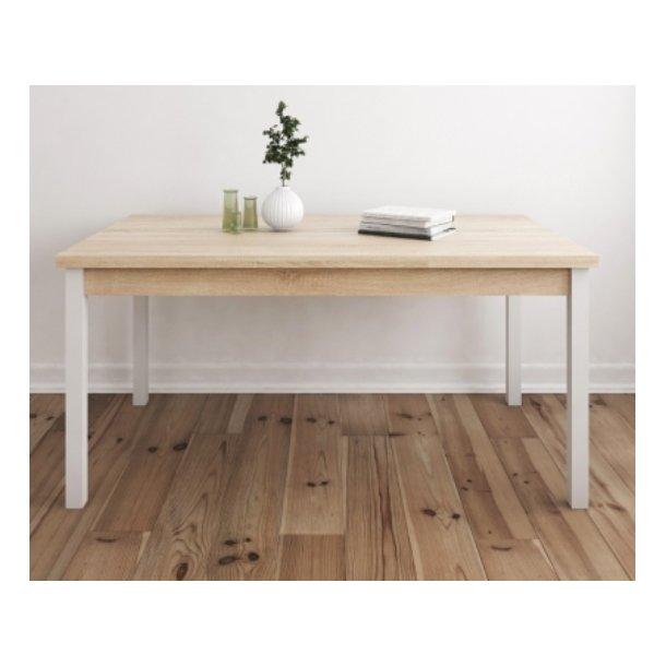 Frisenborg spisebord 80 x 160 cm i egetræ look og med hollandsk udtræk