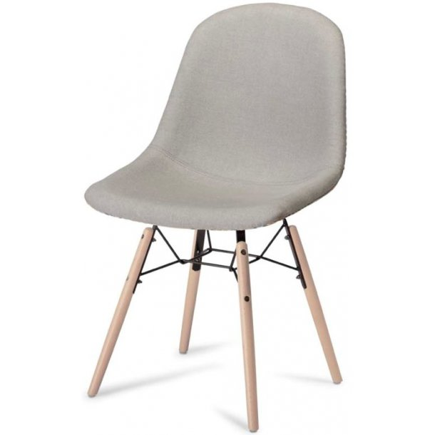 Columbine spisebordsstol gråt stof med skålformet sæde