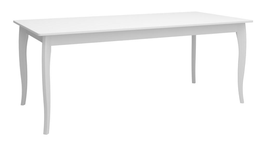 Rokoko hvidt spisebord 95 cm med 4 elegante ben