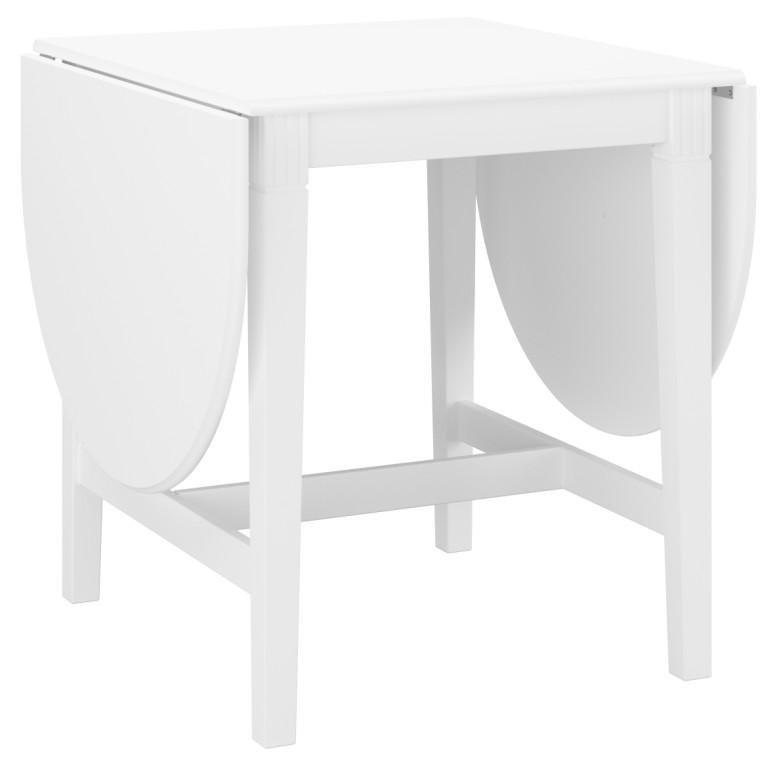Rosenborg 75 cm hvidt klapbord med 4 kraftige ben