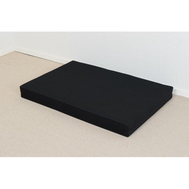 Safir palle madras 80 x 120 x 12 cm med sort slidstærkt betræk