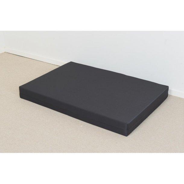 Safir palle madras 80 x 120 x 12 cm med gråt slidstærkt betræk