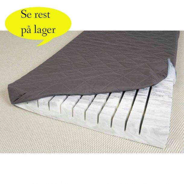 Isabella koldskum madras fast til hård mål 90 x 200 x 12 cm mørkegråt betræk.