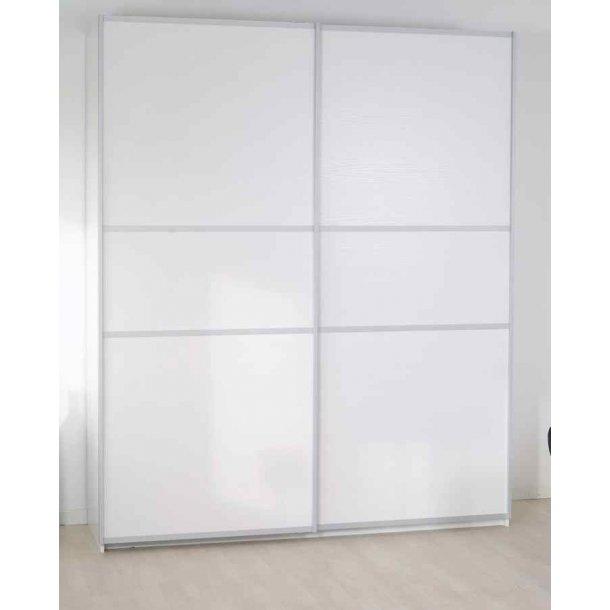 Gitte hvidt garderobeskab 180 cm bredt med 2 skydedøre