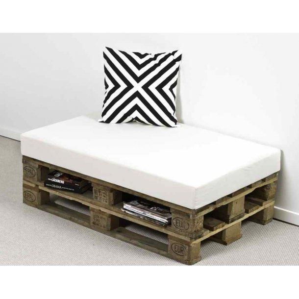 Safir palle madras 80 x 120 x 12 cm med råhvidt bomuld betræk