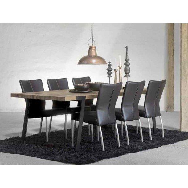 Goliat plankebord 240 x 100 cm bordplade af massiv olieret vildeg
