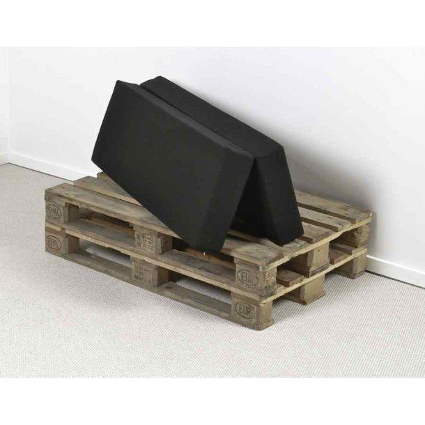 Safir folde madras 120 x 40/40 x 12 cm med sort slidstærkt betræk.