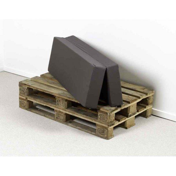 Safir folde madras120 x 40/40 x 12 cm med gråt slidstærkt betræk